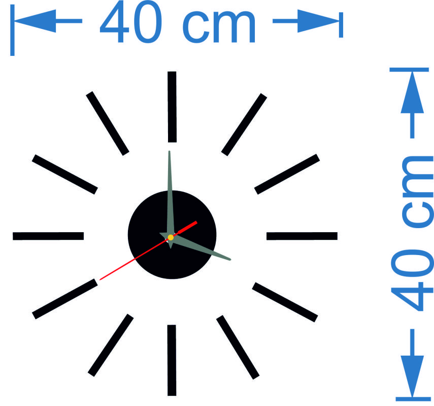Wall Clock Size