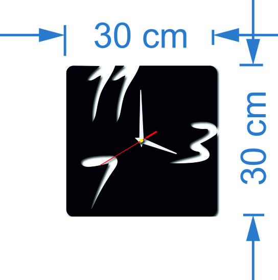 Wall Clock Size: