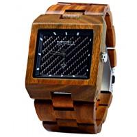 BEWELL Drevené náramkové hodinky tmavé OLIVIA DH005 vera