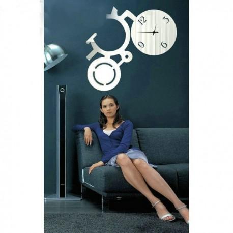 Moderné nalepovacie nástenné zrkadlové hodiny na stenu