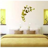 Dekoračné zrkadlá. Zrkadlové samolepky na stenu, ako obraz alebo dekorácia, 3D acryl nálepka
