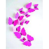 Dekoračné nálepky a samolepky,farebné nálepky a samolepky, na stenu, 3D farebné motýle do detskej izby.
