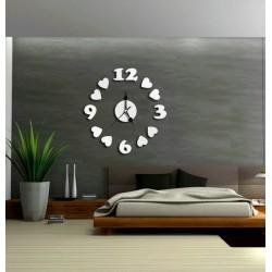 Moderné nalepovacie nástenné hodiny na stenu SRDIEčKA