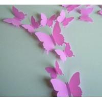 Farebná samolepka - Ružové motýle - 1 balenie obsahuje 12 ks SZEK