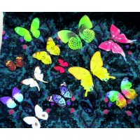 Samolepka na stenu - Motýle farebné - 1 balenie obsahuje 12 ks