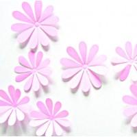 Trendy nálepka - Ružové kvety Selena - 1 balenie obsahuje 12 ks