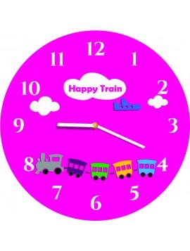 Nástenné hodiny do detskej inzy ružové. Rozmer  30 x30 cm