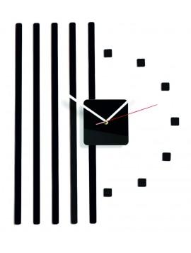Nástenné hodiny plexi  Farba čierna. Rozmer 58 x 45 cm KORADO