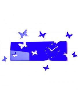 Plastové hodiny modré EVITA. Rozmer  60 x 49 cm