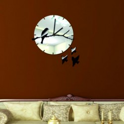 Som zlato!  Nástenné hodiny zrkadlové zlaté .