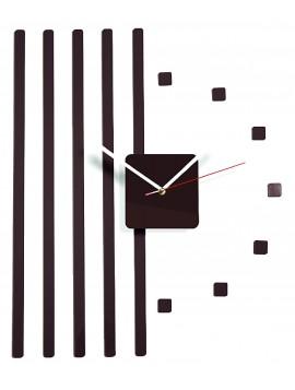 Plastové hodiny na stenu hnedé čoko.  Rozmer 58 x 45 cm