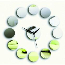 Nalepovacie nástenné zrkadlové hodiny na stenu KRUH