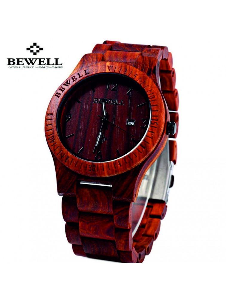 Drevené náramkové hodinky BEWELL vyrobené z prírodných materiálov. Hodinky  pre muža aj ženu. Loading zoom 44e029f9ea9