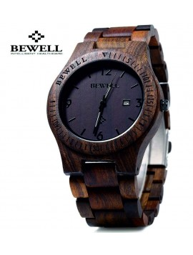 Drevené náramkové hodinky tmavá čokoláda-BEWELL