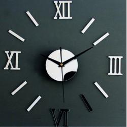 Fantastické zrkadlové hodiny na stenu malé roman EVKLIN