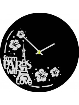 Nástenné hodiny vyrobené z vinylovej platne