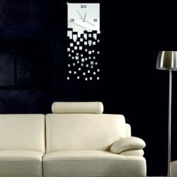 STYLESA Nástenné hodiny zrkadlové padajúci dážď DIY FILIP IA103S silver