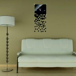 Nástenné hodiny zrkadlové čierne DIY POLNOC