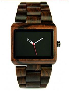 READER Drevené náramkové hodinky tmavé hnedé DH006 EPISF