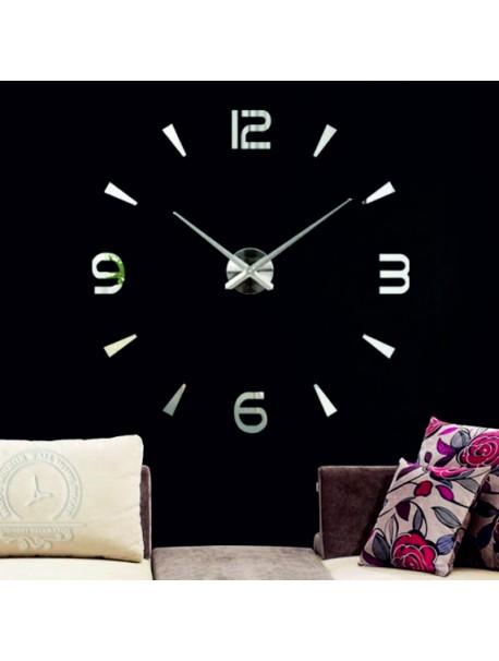 Moderné 3D nástenné nalepovacie hodiny. Zrkadlové hodiny ako obraz