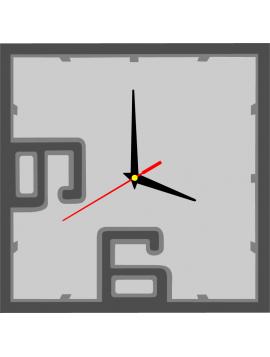 Nástenné hodiny z plastu BRODY, farba: tmavá sivá, sivá, svetlá sivá