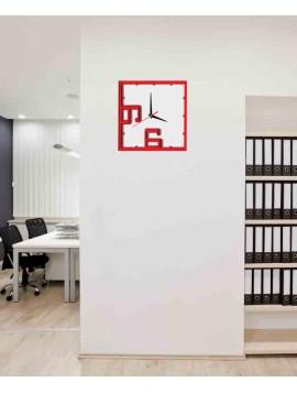 Hodiny na stenu luxusné , farba: červená svetla, červená tmava, biela ABRAM