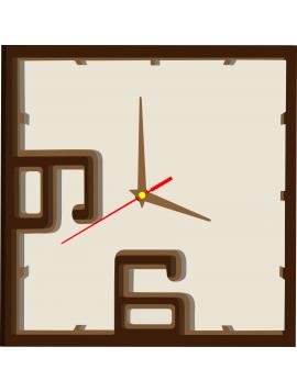 Kreatívne hodiny farebné  FELIX, farba: tmavá hnedá, hnedá, biela káva. Ručičky: hnedá