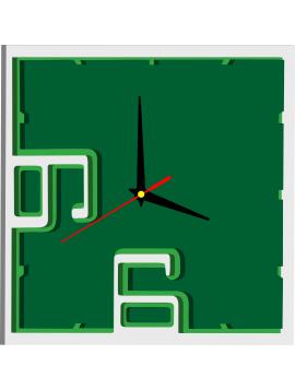 Plastové hodiny na stenu ROMANA, farba: biela, zelená, tmavá zelená