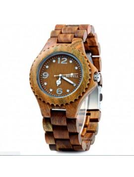 BEWELL Drevené náramkové hodinky Tri čísla DH007 VERA