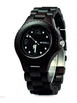 BEWELL Drevené náramkové hodinky DH07 RALPH čierne
