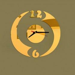 Zrkadlové nástenné hodiny GOLD