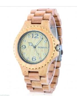 BEWELL Štýlové drevené náramkové hodinky INGA DH007 svetle drevo
