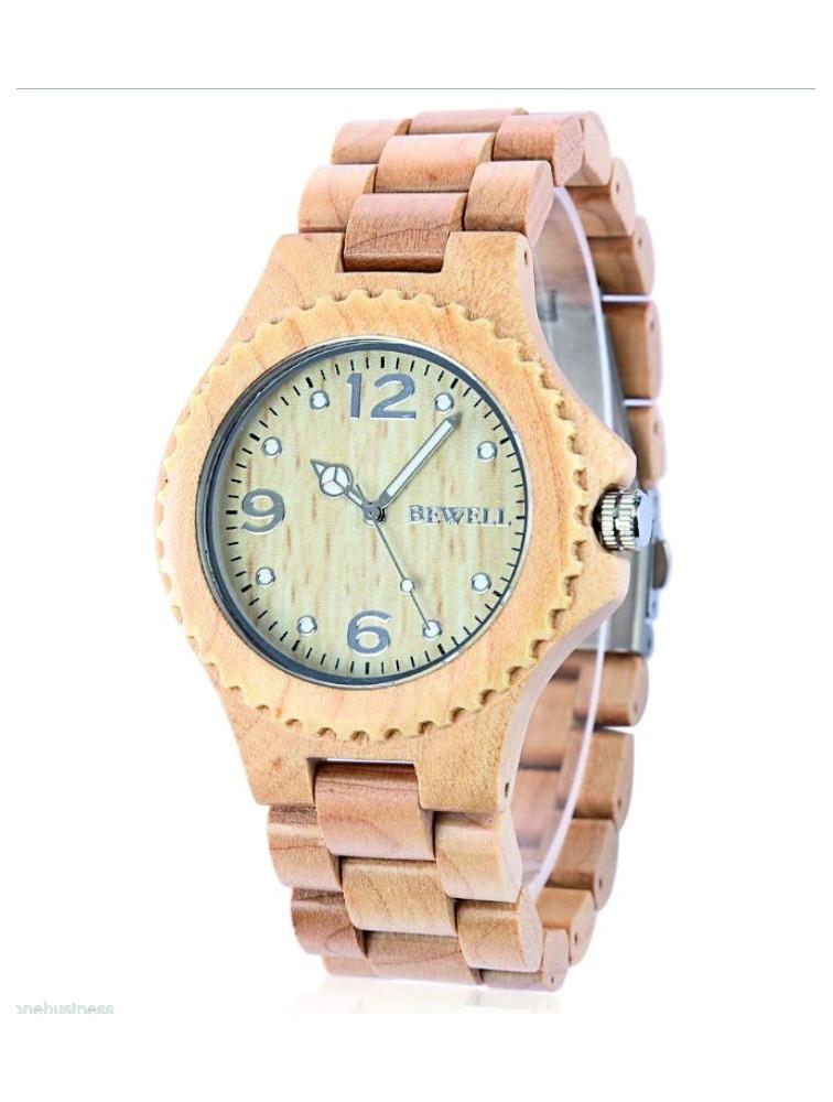 Drevené náramkové hodinky BEWELL vyrobené z prírodných materiálov. Hodinky  pre muža aj ženu. Loading zoom cfe7e43e197