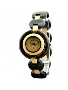 BEWELL  náramkové hodinky drevené čierne DH008 black