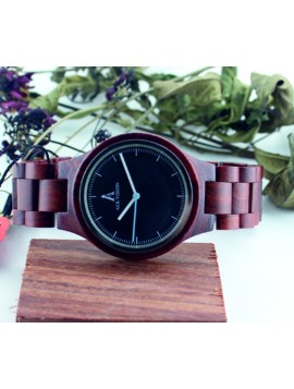 ALK VISION Náramkové hodinky drevené  DH0012 MALKON červené