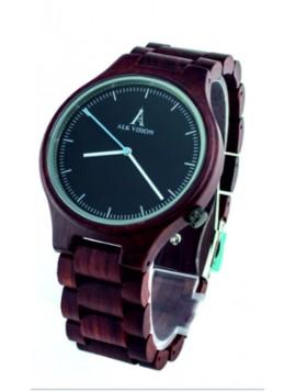 ALK VISION Náramkové hodinky drevené DH012 ALK hnedé