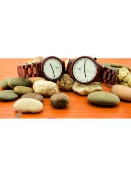 ALK VISION Náramkové hodinky na ruku drevené DHO12 ABC hnedé