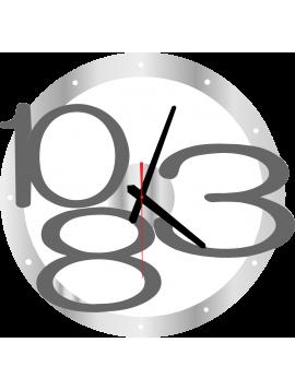 Nástenné hodiny Exclusive, farba: silver, sivé čísla X00013