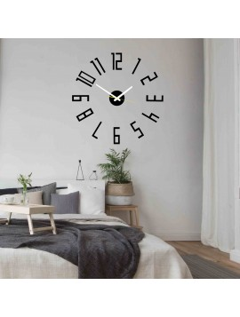 SENTOP štýlové nástenné hodiny do obývačky PALETTE X0018 i čierne