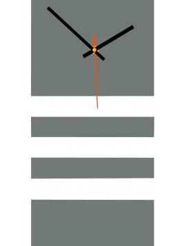 Nástenné hodiny do obývačky JOGOBELA farba:sivá, biela