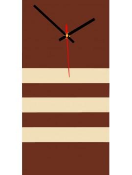 Nástenné hodiny do kuchyne JOGOBELA farba:hnedá, biela káva