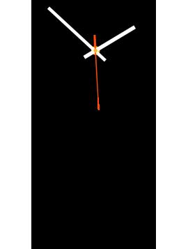 Nástenné hodiny do kuchyne POHO  farba:čierna, biela