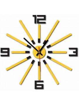 Nástenné hodiny do kuchyne farba:čierna, žltá JOOGUI