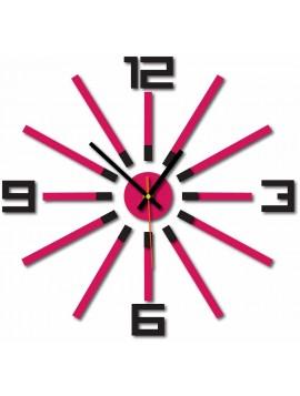 Nástenné hodiny do kuchyne farba:čierna,ružová TOREADO