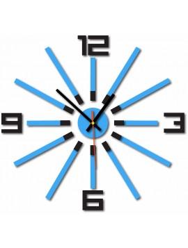 Nástenné hodiny do obývačky farba:čierna,svetlá modrá JAFFA