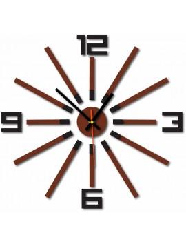 Nástenné hodiny do kuchyne farba:čierna,svetlá hnedá LORETA