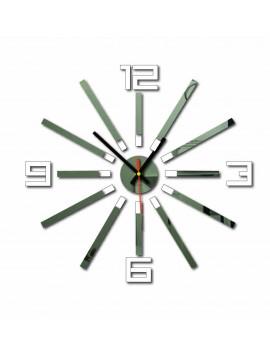 Nástenné hodiny do kuchyne farba:biela, zrkadlo TYPSTEL