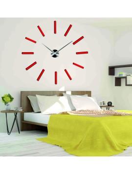 Sentop Nástenné hodiny nalepovacie X0038 CHOCCO DIY červené