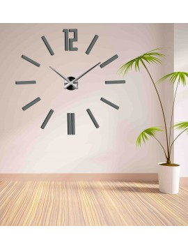 SENTOP  Moderné nástenné hodiny do obývačky X0031 DEFERK šedé