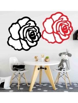 Moderná samolepka na stenu - Ruža FOX